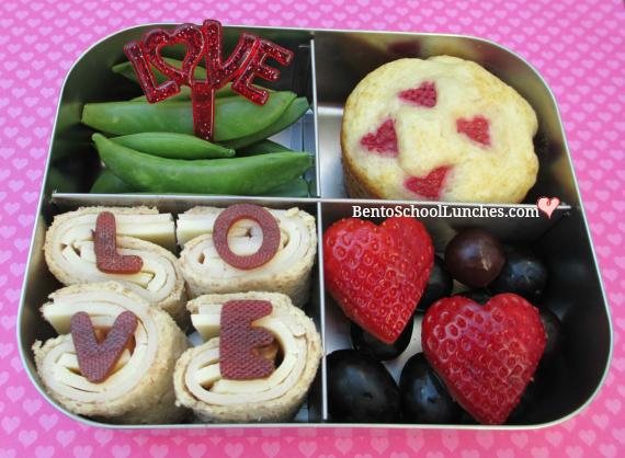 LOVE Pinwheels Valentine's lunch