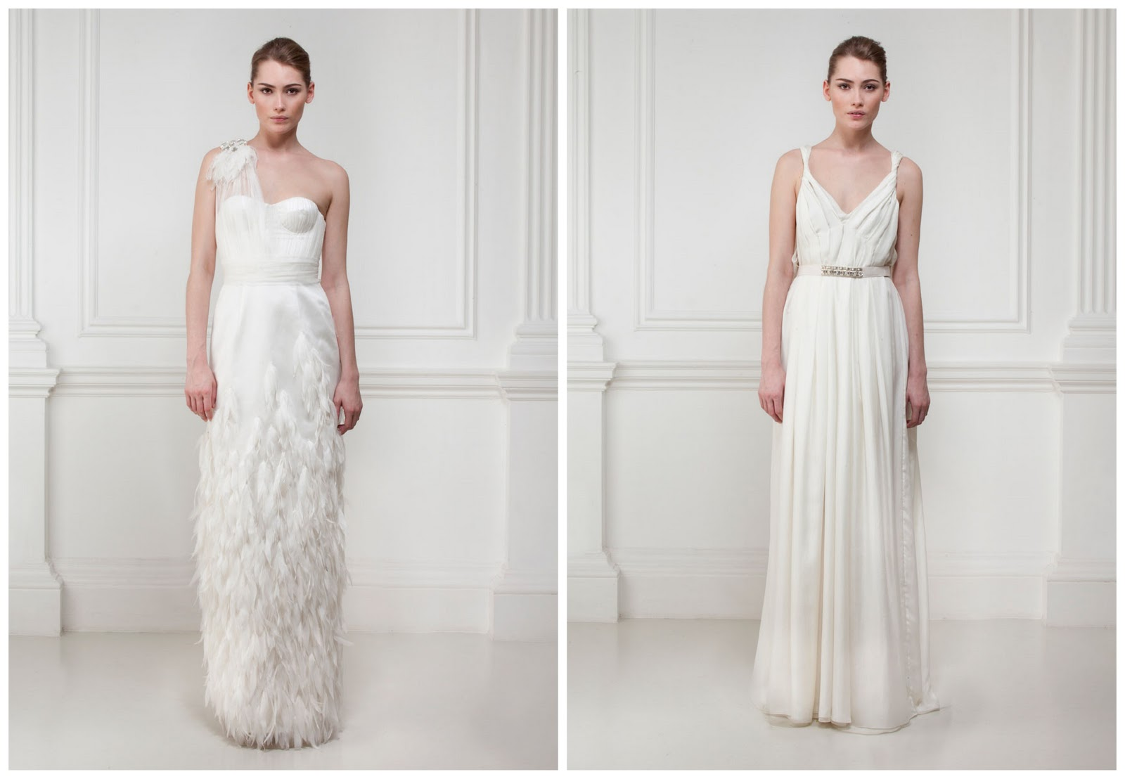 Feathery_Grecian_Wedding_Dresses_Matthew_Williamson_Bridal_Before_the