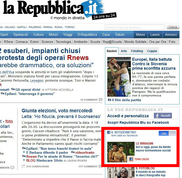 Pazzo per repubblica il blog dei feticisti di repubblica for Home page repubblica