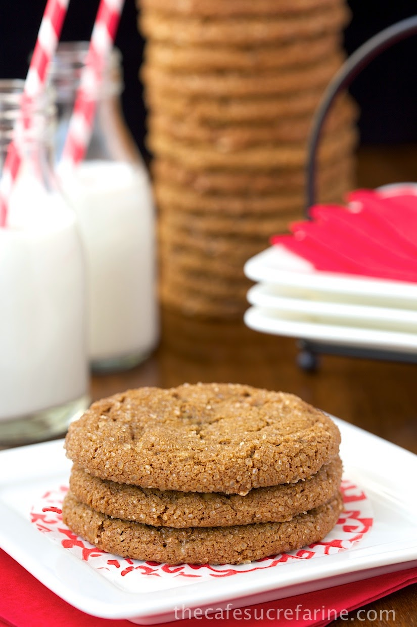 Ginger Toffee Cookies - So full of gingery flavor, with little bursts of toffee throughout. Crackly on the outside and yummy chewy on the inside.