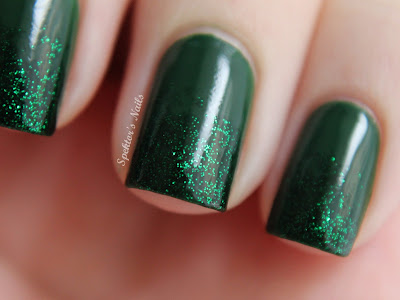 China Glaze - Holly-Day + China Glaze - Emerald Sparkle
