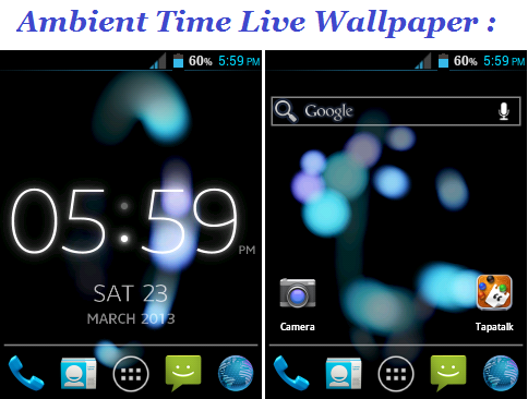 Ambient Time Home & Live Wallpaper for Galaxy Y