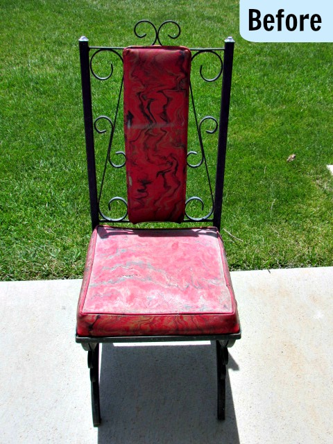 Mark thought the chairs were all together ugly and just wanted me to get rid of them. I couldnu0027t do that either though. The metal frame scroll detailing ... : reupholster patio chairs - Cheerinfomania.Com