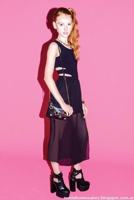 Moda invierno 2015 Muaa: faldas con transparencias.
