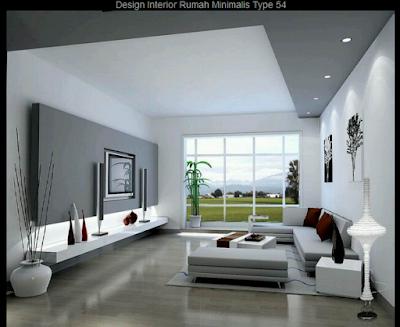 Desain Interior Rumah Minimalis Type 54