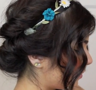 3 minutes summer updo hair style for girls