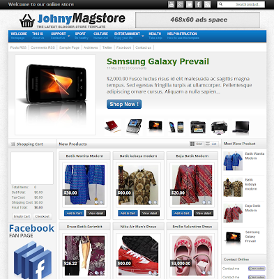 Johny Magstore Shopping Blogger Template