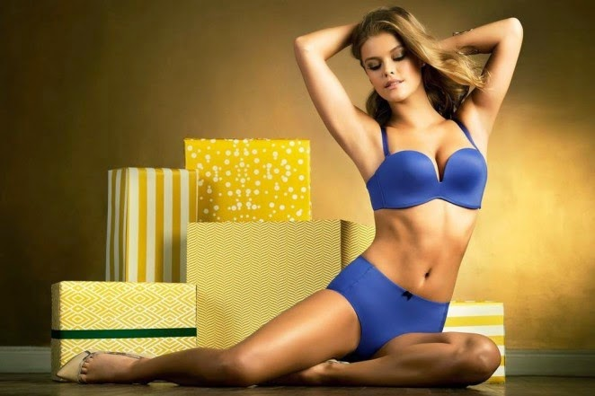 'Christmas Wishes' Nina Agdal poses for the Leonisa Lingerie December 2014 Lookbook