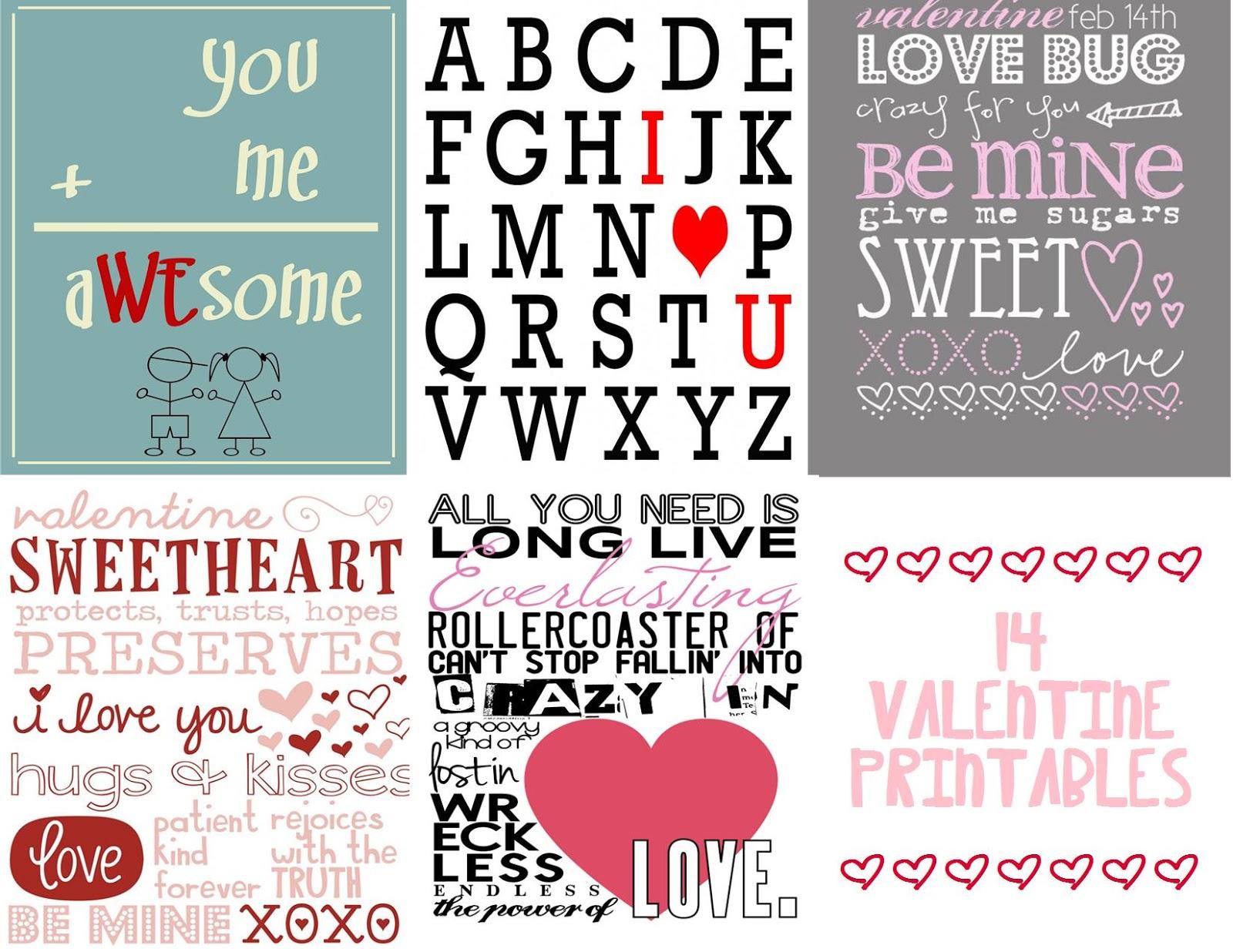 VALENTINE PRINTABLES!!!