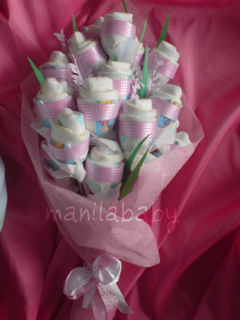 Baby Gift Baskets Philippines : Manila baby diaper bouquets