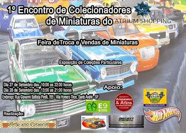 1º ENCONTRO DE COLECIONADORES DE MINIATURAS DO ATRIUM SHOPPING