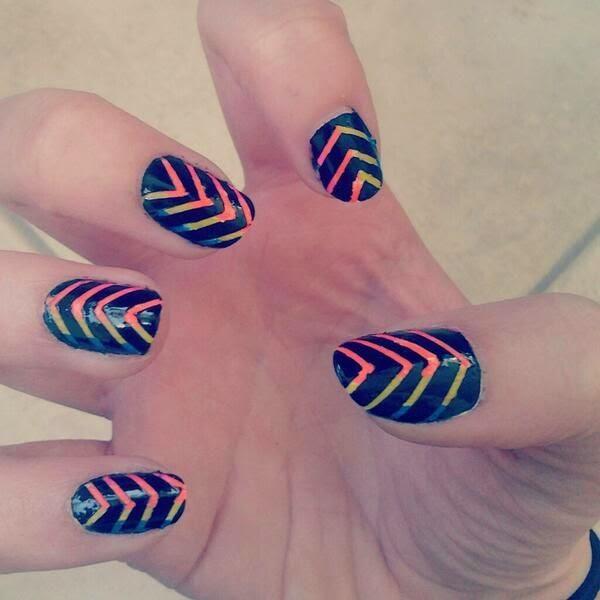 nail taping designs