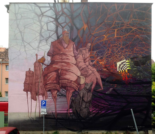 Street Art By Roem and Sepe in Kosice, Slovaka For SAC Festival