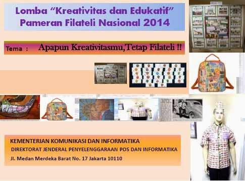 Lomba Kreativitas dan Edukatif Pameran Filateli 2014
