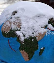 Snow on Globe