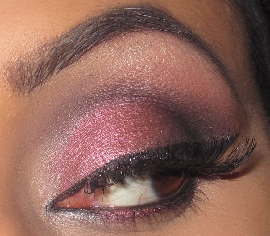 mac, cranberry, eyeshadow, carbon, paradisco, tutorial, blog, smokey ...