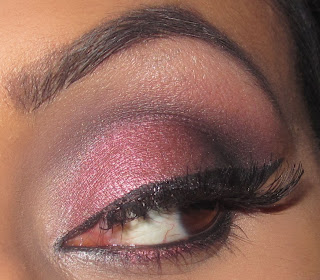 mac, cranberry, eyeshadow, carbon, paradisco, tutorial, blog, smokey, makeup, beauty