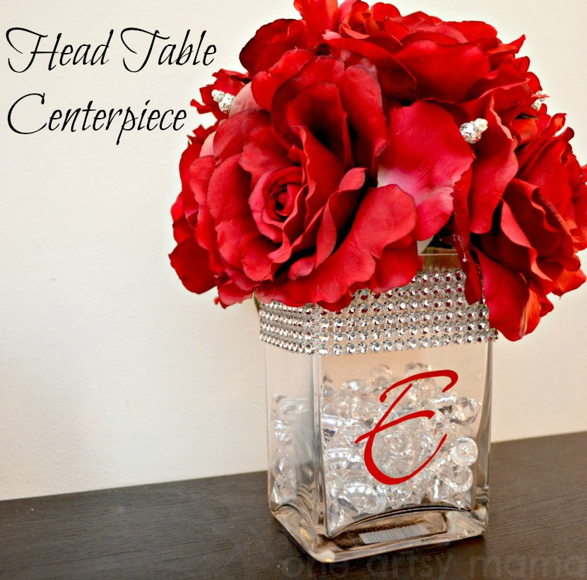 Head table centerpiece david tutera bridal amy latta