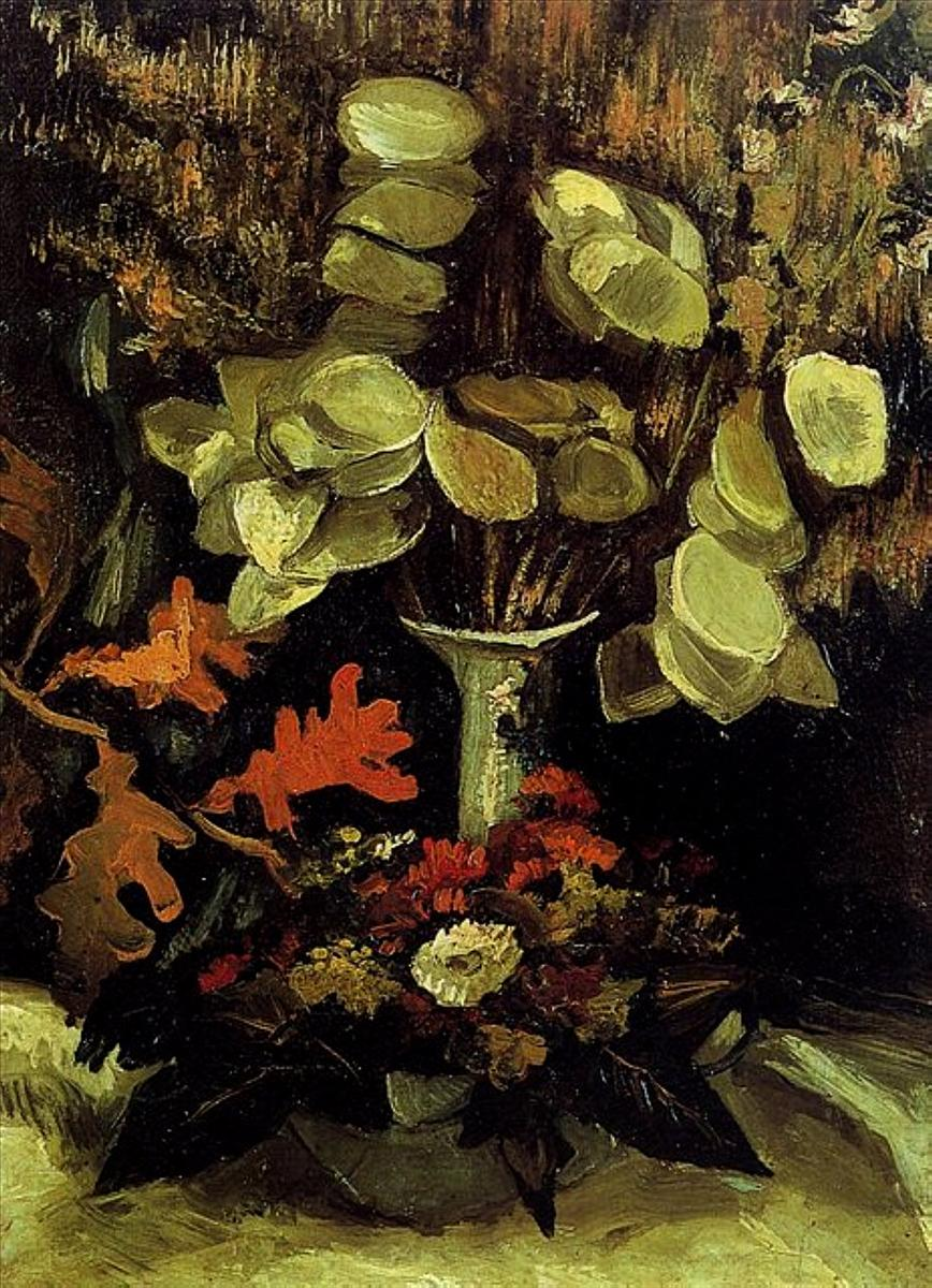 Vase with Honesty (F 76, JH 542) by Vincent van Gogh