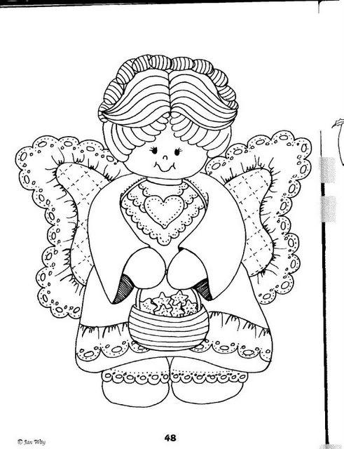 Dibujos animados para colorear: Dibujos de ángeles para colorear