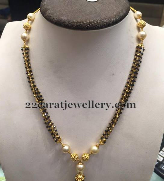 14 Grams Black Spinel Necklace Jewellery Designs
