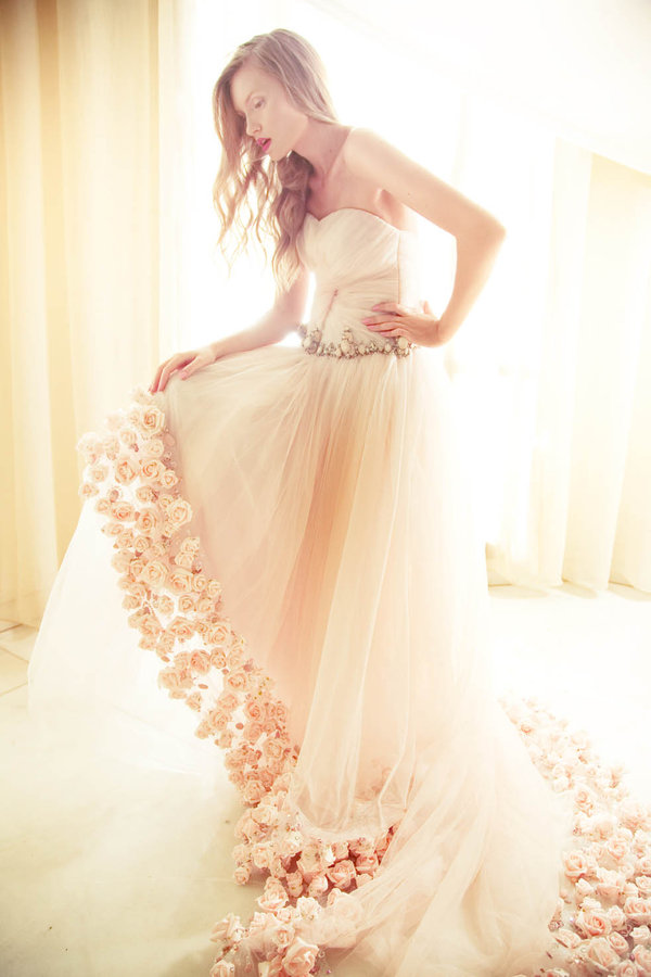 Romantic Honeymoon : Romantic Wedding Dress Image