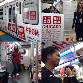 #UniQloChicago Train Takeover promo!