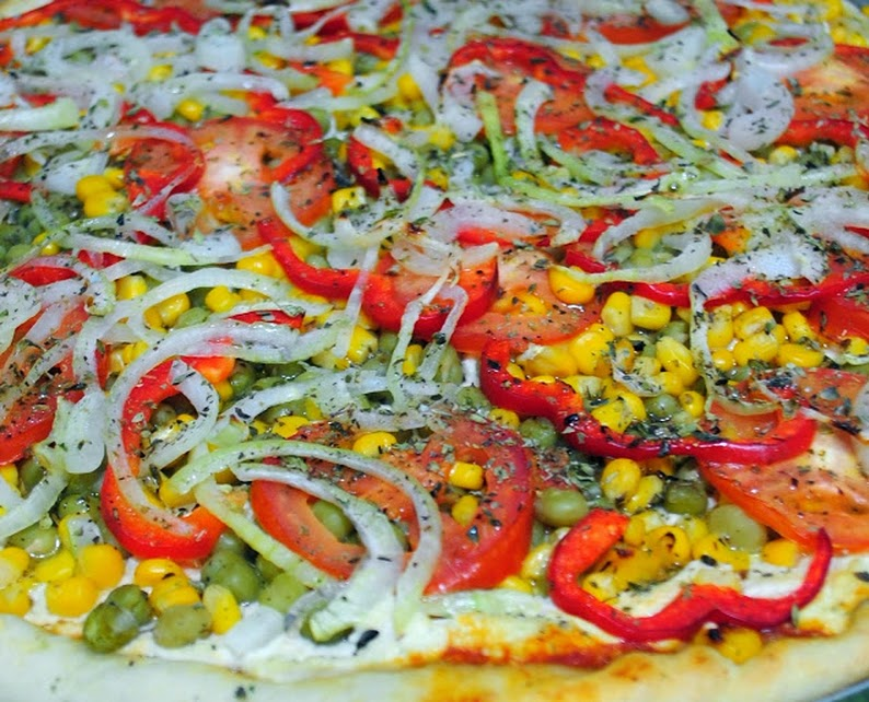 Pizza Portuguesa (vegana)