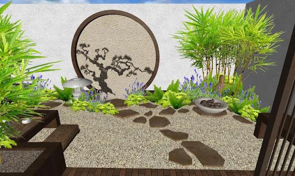 foto render1 - diseno jardines online patio oriental japones