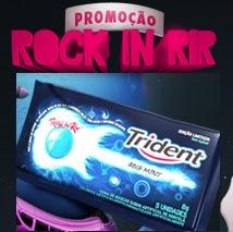 Promoção Trident Rock in Rir