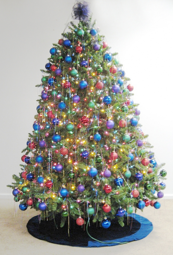 Multi Coloured Christmas Tree Decorations