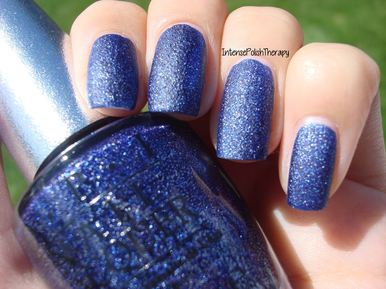 Navy Blue And Silver Nail Designs