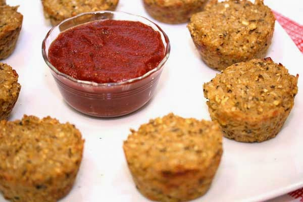 Italian Quinoa Bites and Dipping Sauce