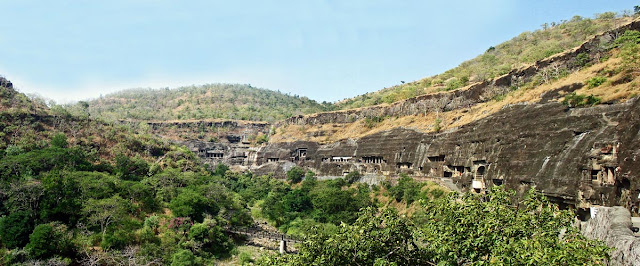 ajanta caves panorama