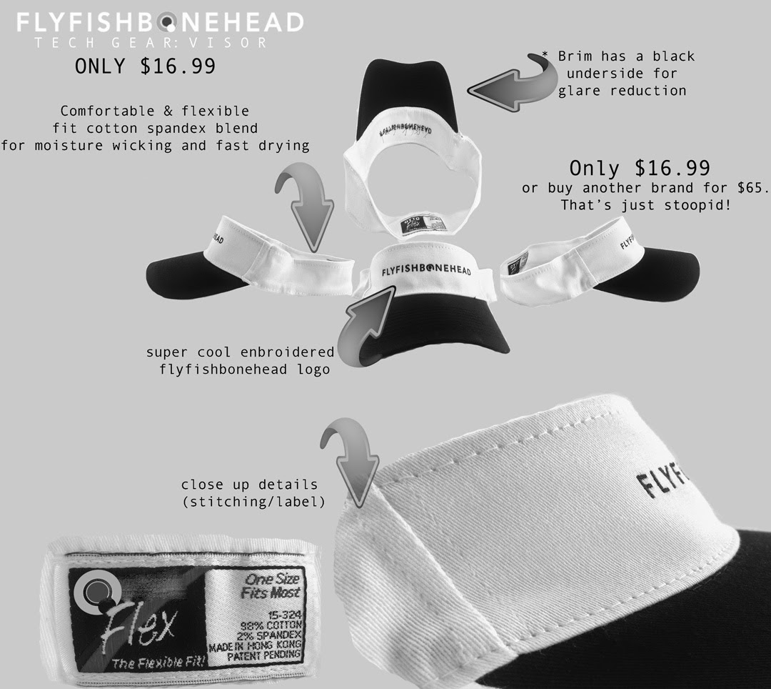 Flyfishbonehead technical gear - Fly Fishing Tech Visor