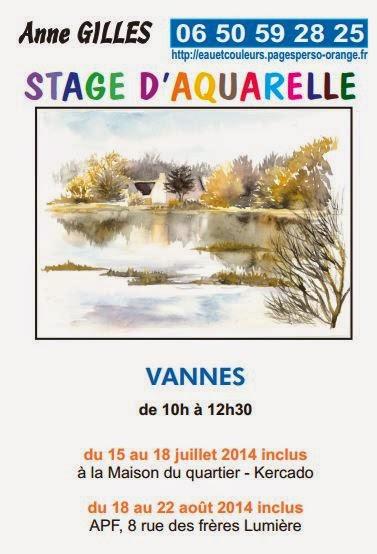 Anne a été mon professeur d'aquarelle . Stage d'été avec Anne Gilles à Vannes
