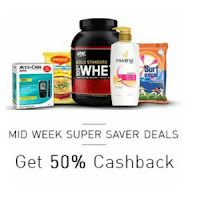 Snapdeal Mid Week Super Saver Deals Get 50% Cashback : BuyToEarn