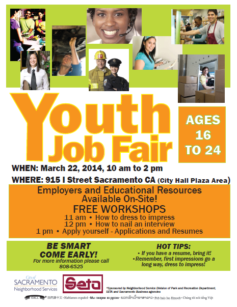 Youth Job Fair at City Hall on March 22