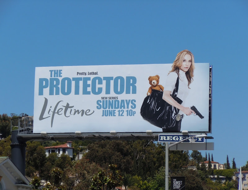 The Protector TV billboard
