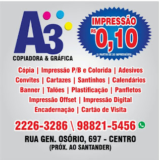 A3 COPIADORA & GRÁFICA - (84) 2226 3286/98821 5456