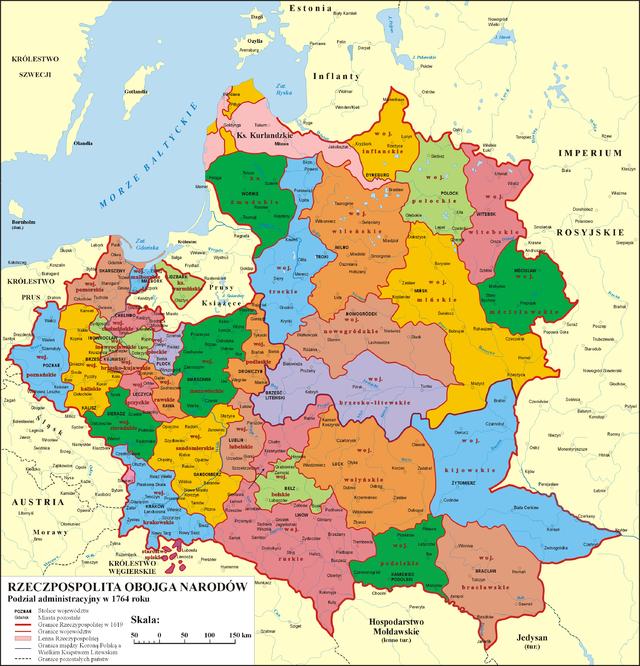 mapa polska i jej sąsiedzi