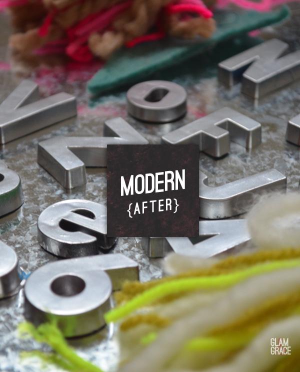 metallic letter magnets
