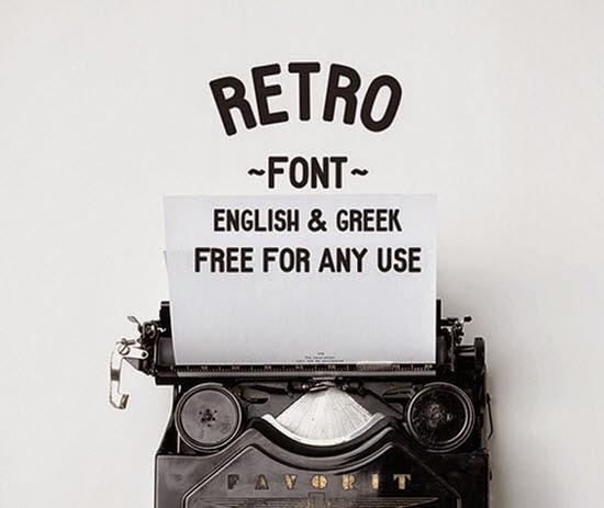Retro Sans free font