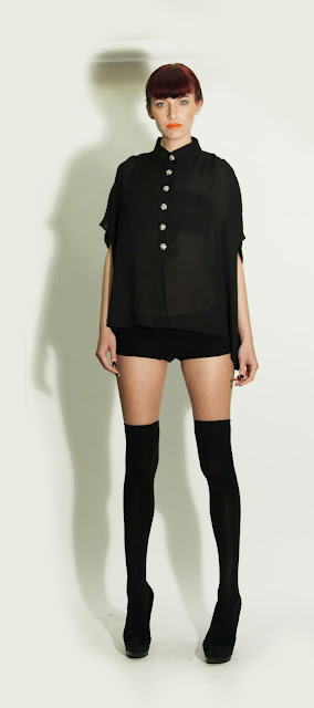Fazane sheer black shirt