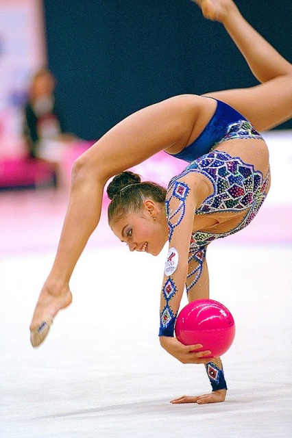 Naked rhythmic gymnastic