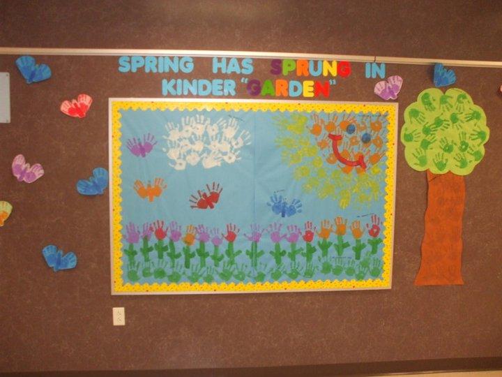 ms m 39 s kg class kindergarten 39 s spring bulletin board. Black Bedroom Furniture Sets. Home Design Ideas
