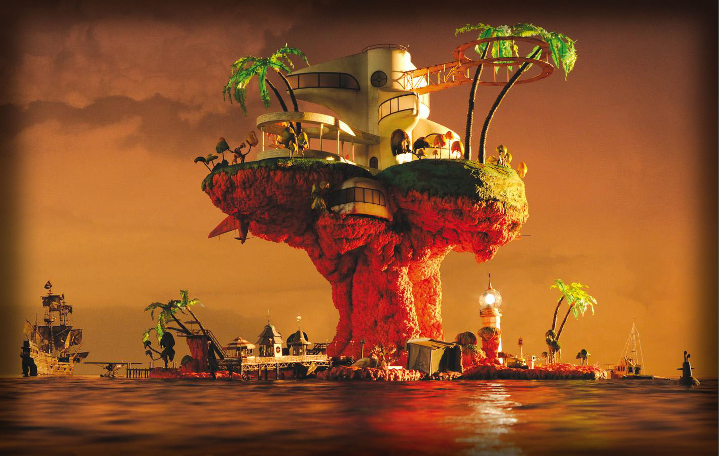 gorillaz wallpapers plastic beach - photo #1