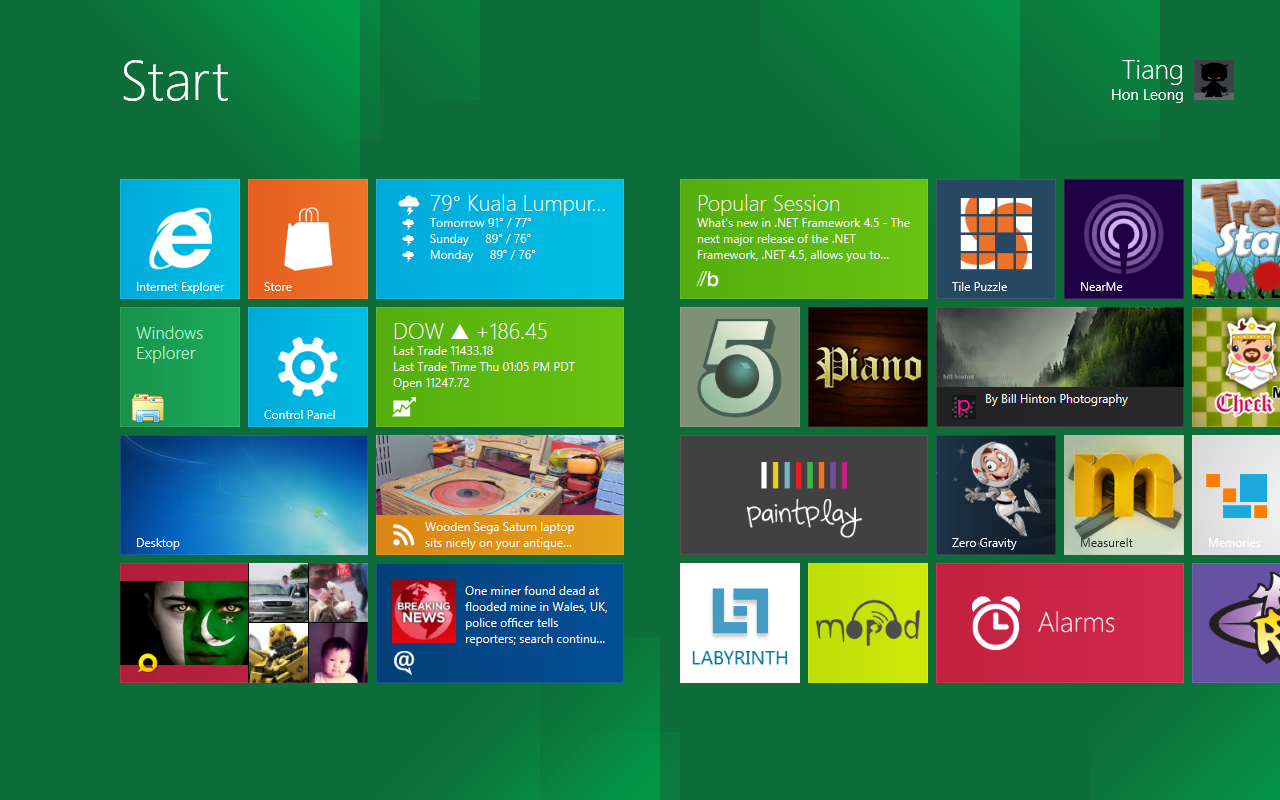 Windows 8 Metro UI ~ similar to Windows Phone 7 Metro UI