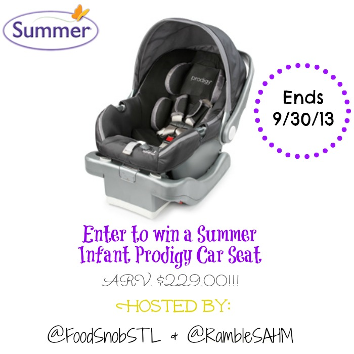 summer prodigy infant car seat review giveaway. Black Bedroom Furniture Sets. Home Design Ideas
