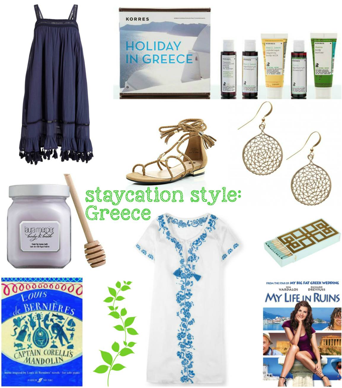 mamasVIB | V. I. BABYMAMAS: How to take a stylish holiday …at HOME! Part 1 | next | greece | greek holiday | holiday in greece | korres | river island | gladiators sandals | amaara | my life in ruins | oliver bon as | greek key matches | mesh earring s| greece | greek isles | louis de bernieres | captain corelli | holiday style | satiation | holiday fashion | style | style | mamasvib | greek looks | holiday | kaftan | smock dress | boden | corscia kaftan | greece islands
